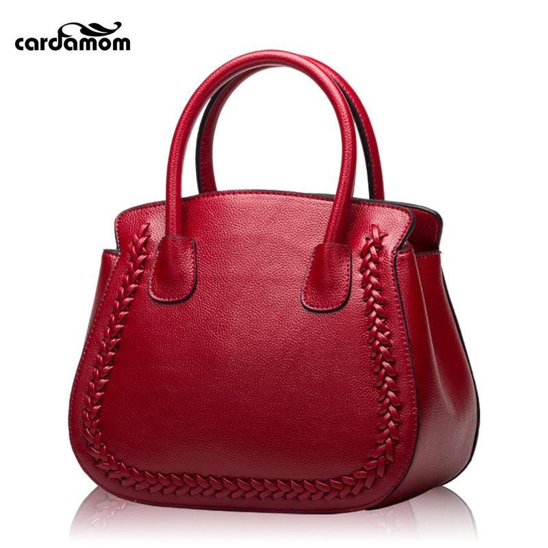 Cardamom Genuine Leather Handbags Women Luxury Handbags Woman Bags Designer Big Capacity Women's Crossbody Bag woman handbags 100