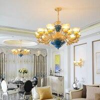 French Style Crystal Chandeliers Modern Bedroom Lamps Luxury Hotel Restaurant Speakers Living Room Led Chandelier Lighting