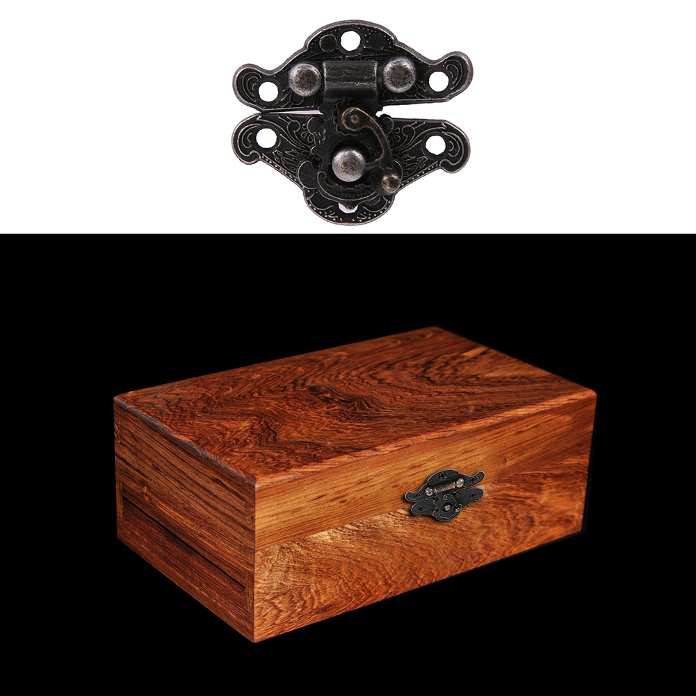 5Set/Lot Antique Latches Catches Hasps Solid Clasp Buckles Small Lock For Wooden Box Hardware 25 X 23mm