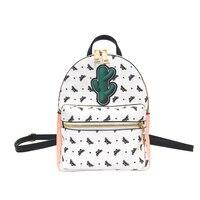 2017 Women Backpack PU Leather Cute Charm Butterfly Print Knapsacks Female School Bags Fashion Portfolio Mochila