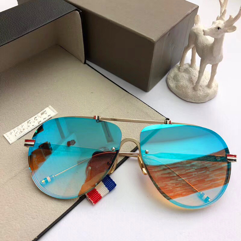 Vintage Fashion Summer Sunglasses TB-802-A Outdoor Goggle Driving oculos de sol Coating Mirror rimless Eyewear original case feidu 2015 brand designer high quality metal sunglasses women men mirror coating лен sun glasses unisex gafas de sol