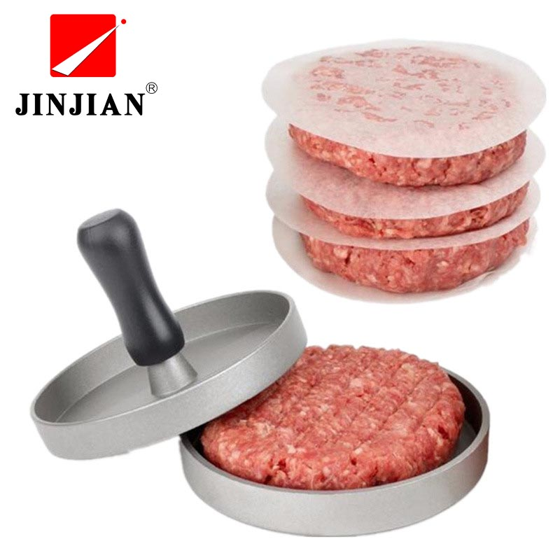 JINJIAN1 Set Aluminum Alloy Hamburger Press Round Hamburger Meat Beef Grill Burger Press Patty Maker Mold Cooking Tools