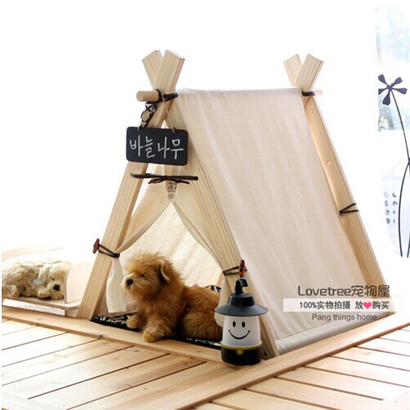 New design square design pure white 100 cotton pet play - Tipi para perros ...