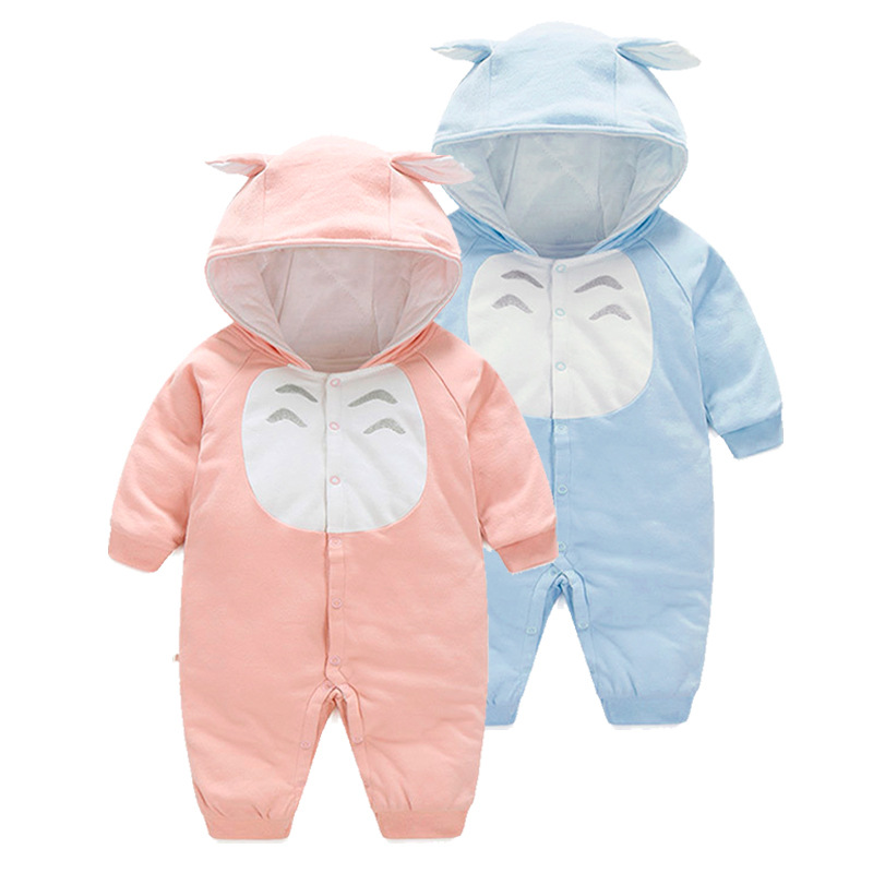 2017 Winter Autumn Carter Thickening Cotton-padded Clothes Soft Long Sleeve Kids Boy Girls Rompers Vestido Infantil Baby Clothes cotton baby rompers set newborn clothes baby clothing boys girls cartoon jumpsuits long sleeve overalls coveralls autumn winter