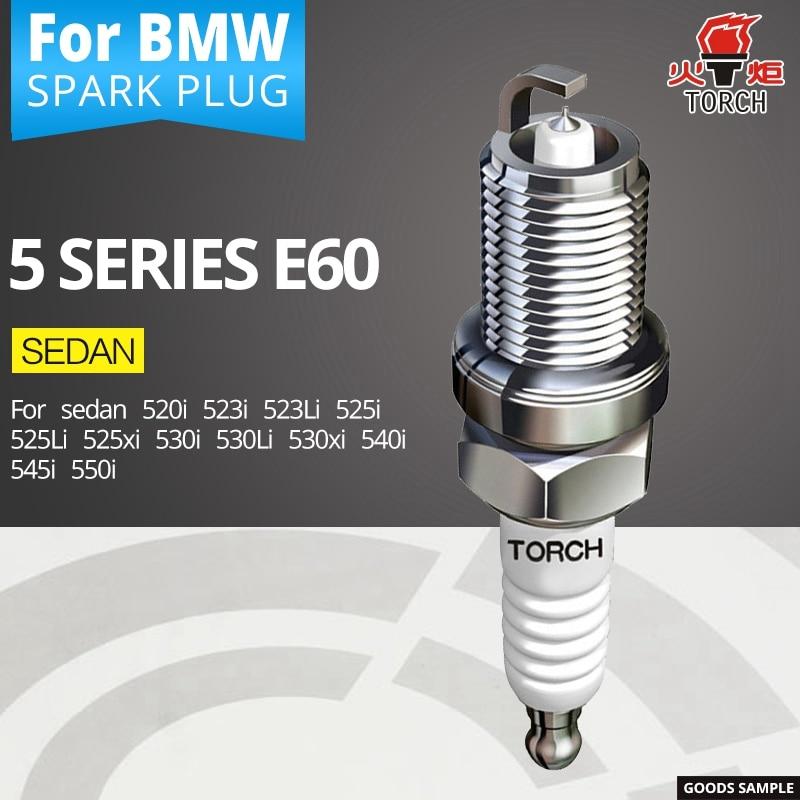 TORCH spark plugs for BMW 5 series E60 sedan 520i 523i 523Li 525i 525Li 525xi 530i 530Li 530xi 540i 545i 550i