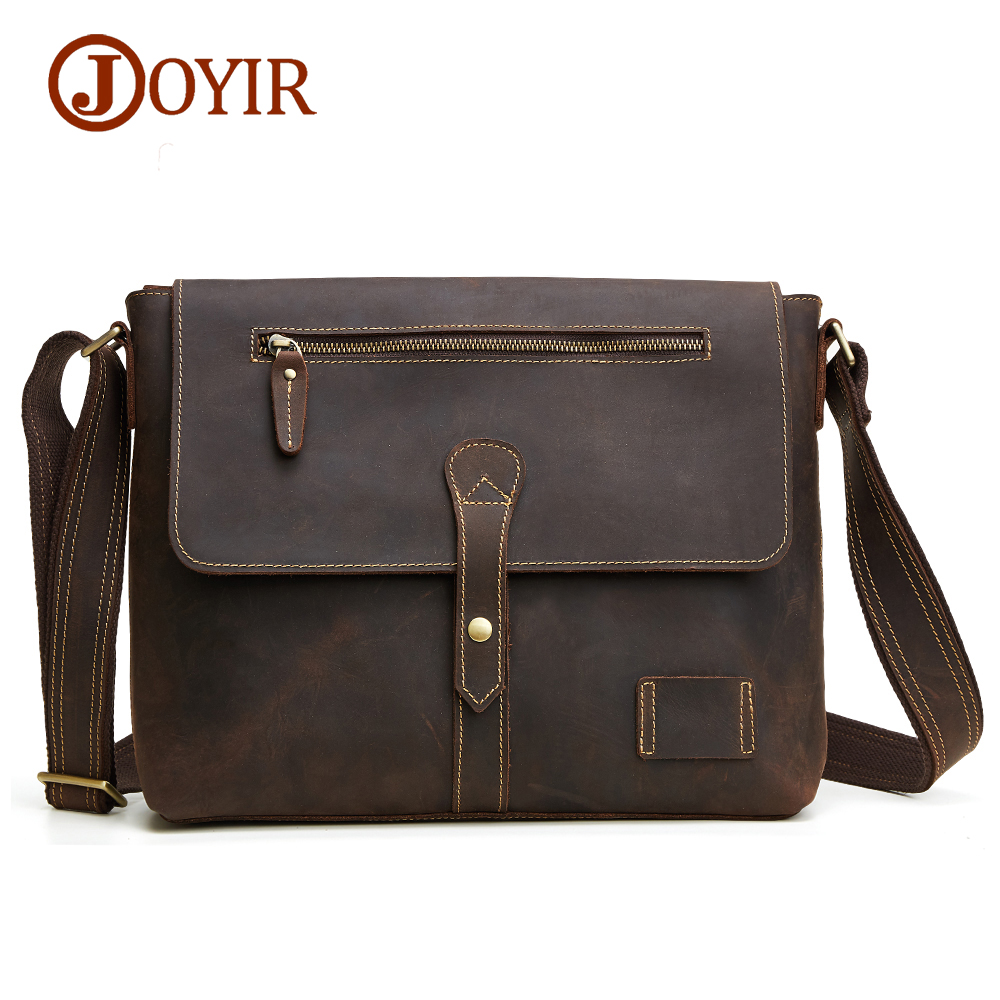 JOYIR Genuine Leather Men Bag Fashion Man Crossbody Shoulder Handbags Men Messenger Bags Male Briefcase Men's Travel Bag 6352 top power men bag fashion genuine leather men crossbody shoulder handbags men s briefcase men bags double bag messenger bag male