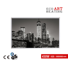 450W Far InfraRed Picture Heating Panel Energy Efficient Radiant Infrared Heater Home Deco 220v 80cm width radiant heat underfloor far infrared ray carbon fiber floor heating
