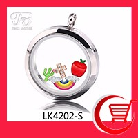 DIY 30mm Charm Lockets, 316L Stainless Steel Round Magnetic Glass Living Floating Memory Locket with Free shipping