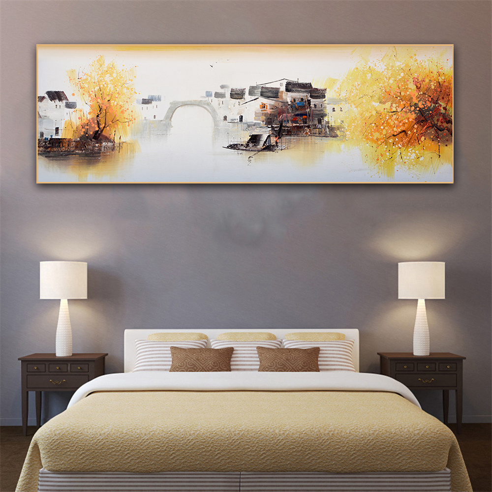 abstract painting large size wall art chinese mountain fog