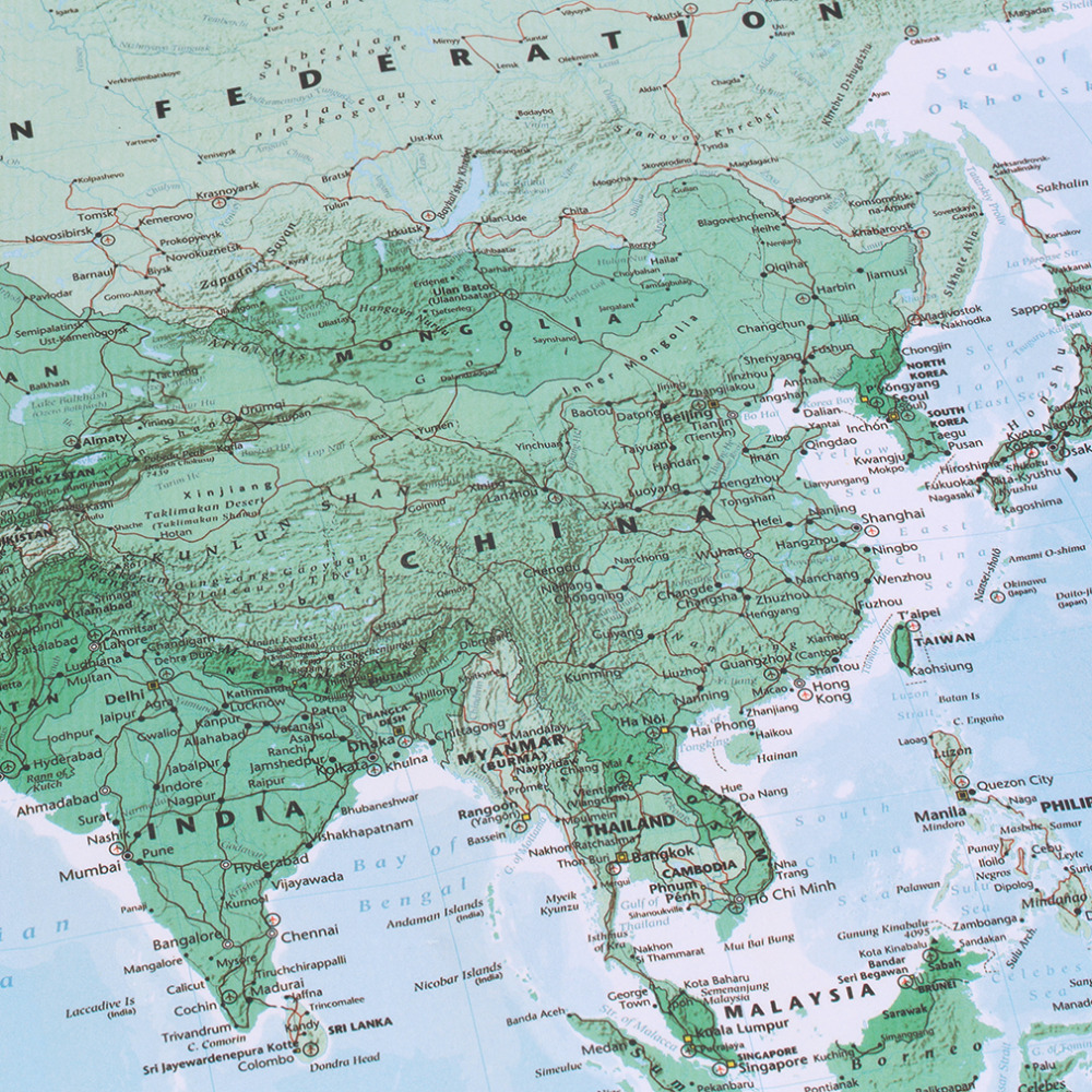 New arrived large world map home decoration detailed english french new arrived large world map home decoration detailed english french wall chart teaching poster in painting calligraphy from home garden on gumiabroncs Images