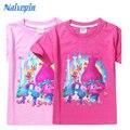 Roupas Infantis Menina Trolls Poppy Magic Cartoon T shirts for Kids Children Girls Clothes Clothing Summer T-shirts Tshirts Tees