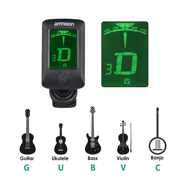 Digital LCD Screen Clip-on Tuner
