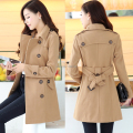 Women's OL Trench Woolen Coat Slim Long Sleeve Double Breasted Overcoat Winter Lapel Coats Long Outerwear With Belt 2015 Poncho