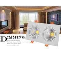 Vierkante LED COB Downlight 7 w 9 w 14 w 18 w 24 w 30 w LED verzonken Plafond Beneden led cob Spot Light Dimbare LED Downlight COB