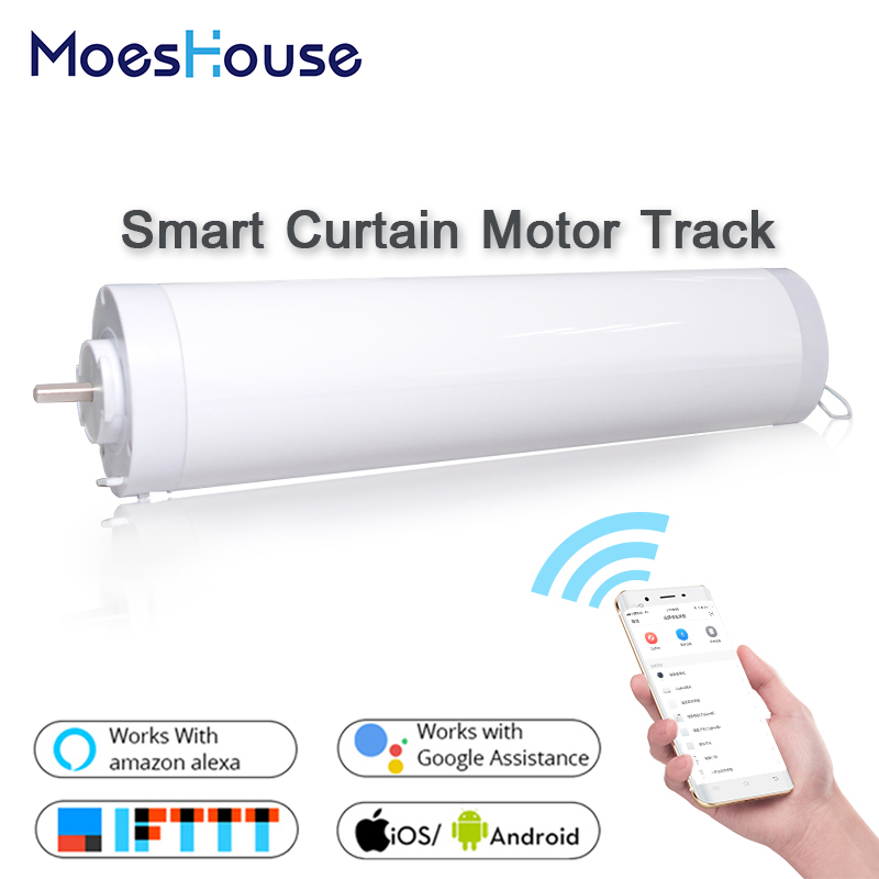 Wifi Smart Automatic Curtain Motor Track System Smart Home Motorized SMART LIFE APP Remote Control Works