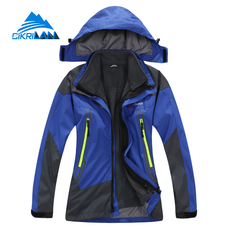 New Kids 2in1 Windstopper Waterproof Camping Ski Snowboard Coat Outdoor Climbing Hiking Jacket Girls boys With