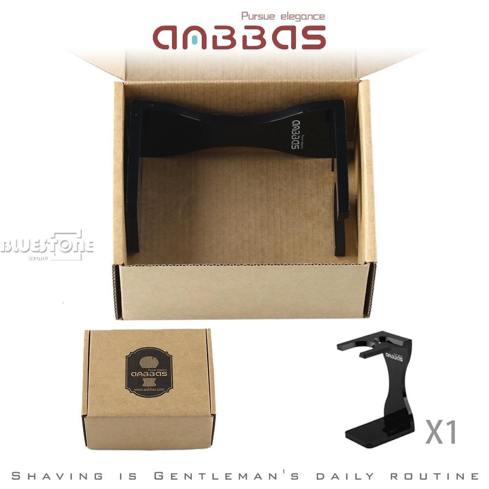 Anbbas Acrylic Shaving Stand for Brush Maintain Traditional Shaving Tool (Black)  5