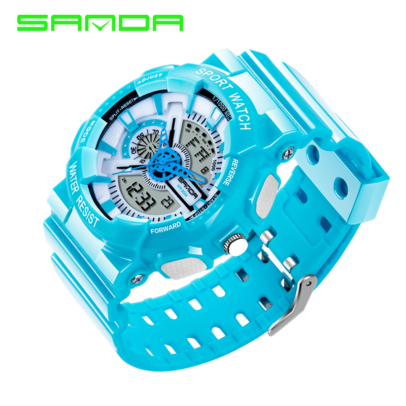 Image 4 - 2016 New Arrival SANDAL G style Quartz Digital Dual Time Watches Men Fashion Man Sports Watches Luxury Brand Military Army Reloj-in Quartz Watches from Watches on AliExpress