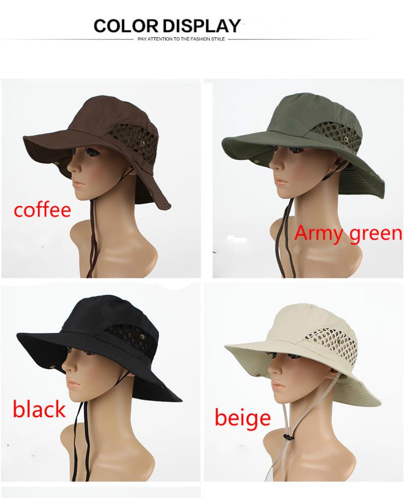a4b827015a422 Folding Fishing Caps Outdoor Sunbonnet Mens Women Fisherman Hat ...