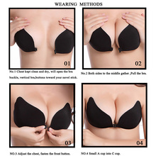 2017Silicone Push Up bras Strapless Adhesive bra Invisible sexy brassiere women's lingerie seamless bra backless