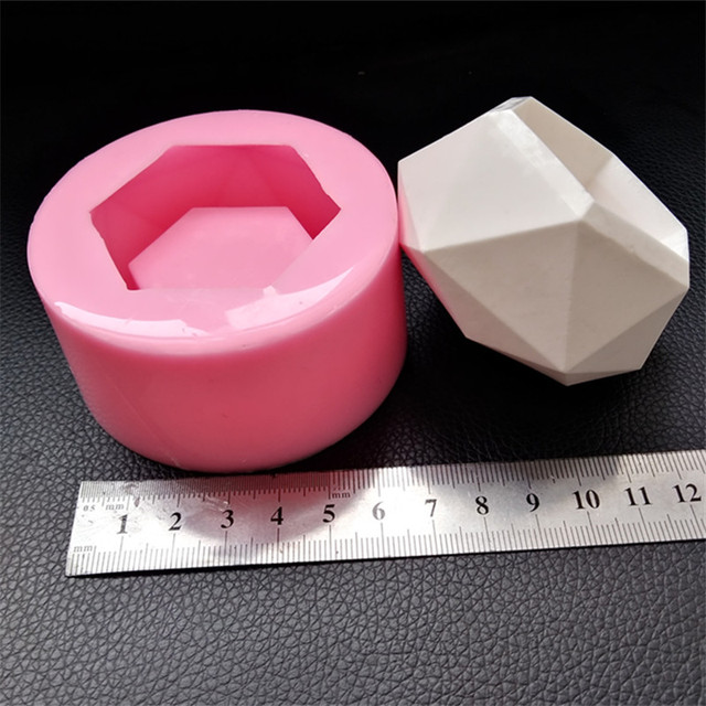 Small Candle Holder Cement Silicone Mold DIY Flowerpot Concrete Planter Mould for Desktop Decorating Mini Plaster Vase Molds
