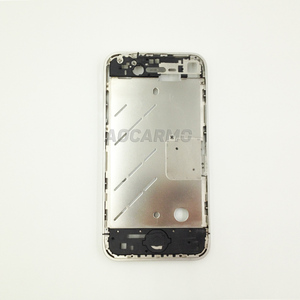 Image 2 - Aocarmo Metal Silver Middle Frame Bezel Housing Plate Board With Battery Sticker For iPhone 4