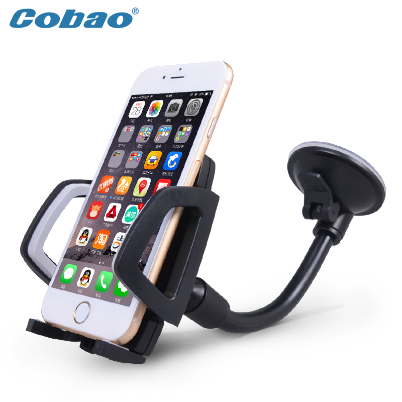 Cobao Universal Long Arm Windshield Phone Holder Car Mount Holder For Mobile Phone Stand For iPhone 6 6s 7 Plus Sumsug GPS MP4
