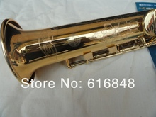 XINGHAI XSS 100 High Quality Export Gold Plated Soprano Straight Pipe Saxophone B Flat Exquisite Carved