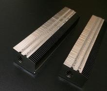 Refrigerador de refrigeração do computador do desktop do dissipador de calor das aletas de alumínio de 110*20*26mm apropriado para a tubulação de calor do diâmetro de 8mm, personaliza o comprimento