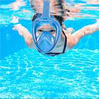 Anti-fog Snorkeling Tool Adjustable Non-toxic Diving Mask Silicone Beach Full Face 180 Degree Sealed Underwater Children