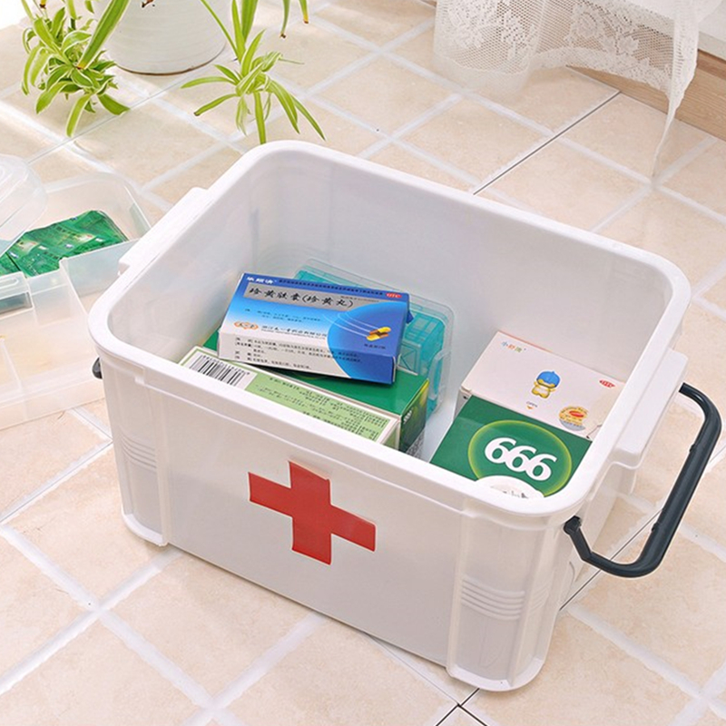 Charmant Large Medicine Box First Aid Kit Plastic Multi Layer Medication Storage Box  Finishing Box Family Emergency Wound Care Kit In Emergency Kits From  Security ...
