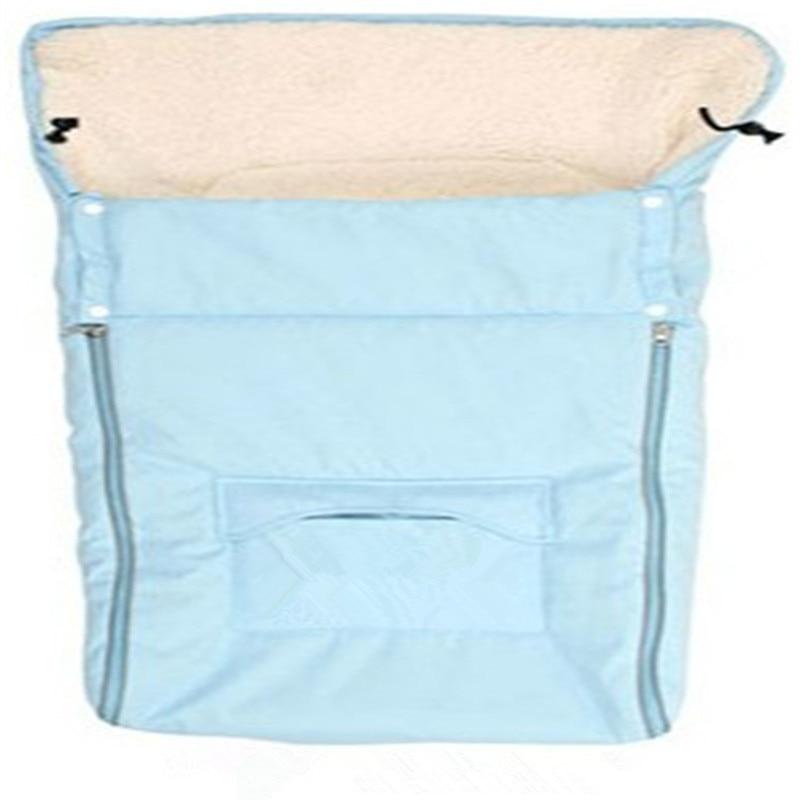 მოდის ახალშობილის კონვერტი Baby Stroller მძინარე ჩანთები სქელი ზამთრის ჩვილ ბავშვთა ძილით კალათის კალათისთვის Toddler Fleebag 3 ფერები