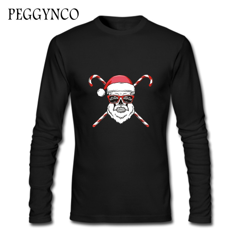 Winter Style Harajuku T Shirt Women/men T Shirt cool sunglasses Christmas santa claus T-Shirt Christmas Gift Tee Tops