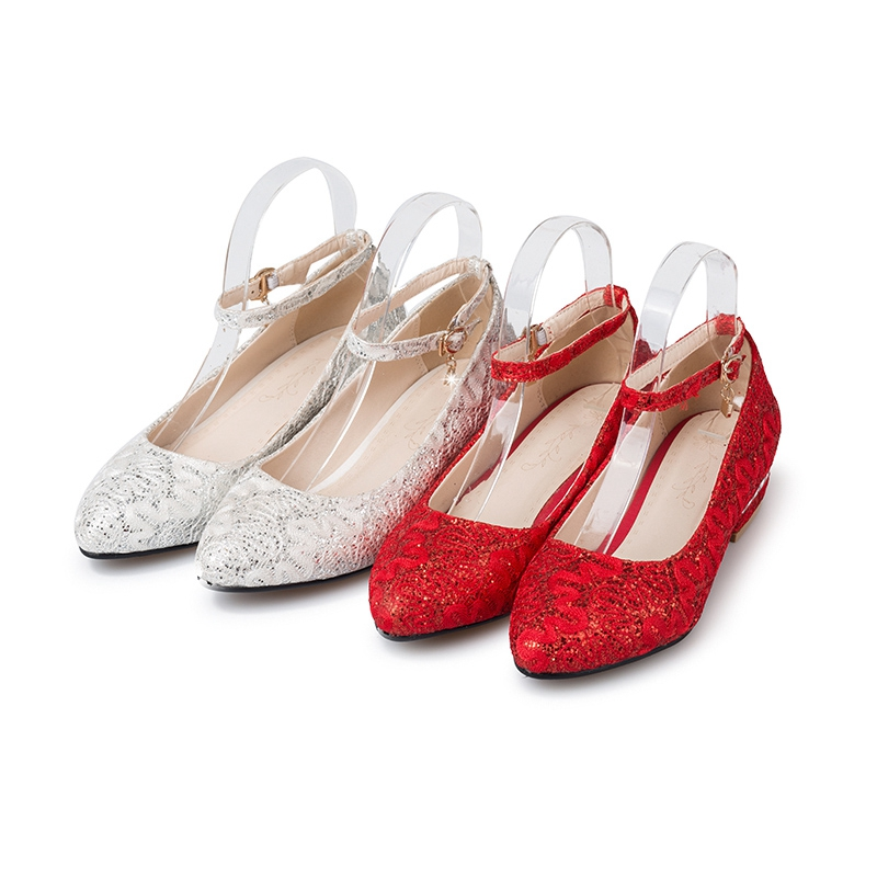 Mujer Printemps Rinestone Red Grande white D'été Casual Rond Femmes Bout Lisa Bling Taille Orcha Mode Femelle C648 Chaussures AqzYww4F