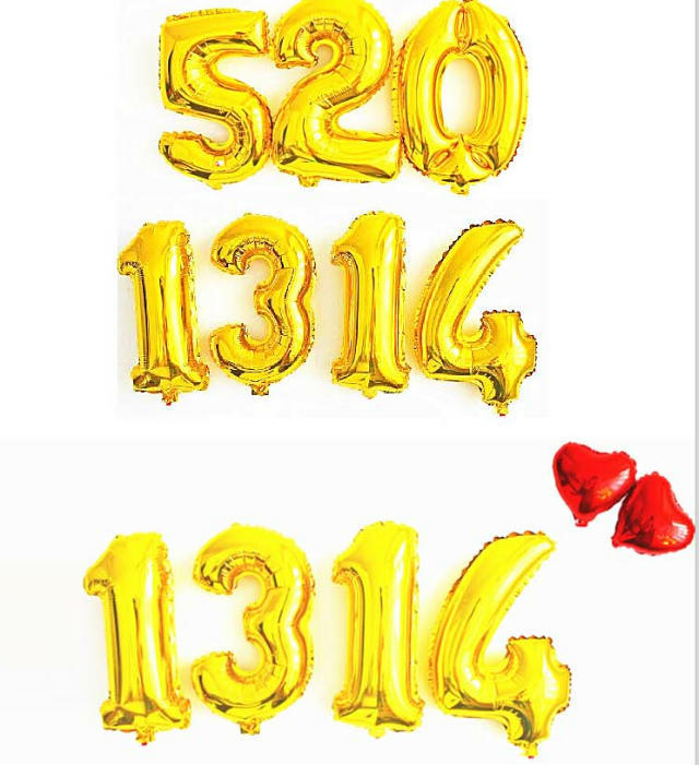 16 Inches Foil Number Balloons Mylar Golden Silver 1000pcs for Party Wedding Birthday Decorations Kids Helium Baloon Numbers in Ballons Accessories from Home Garden