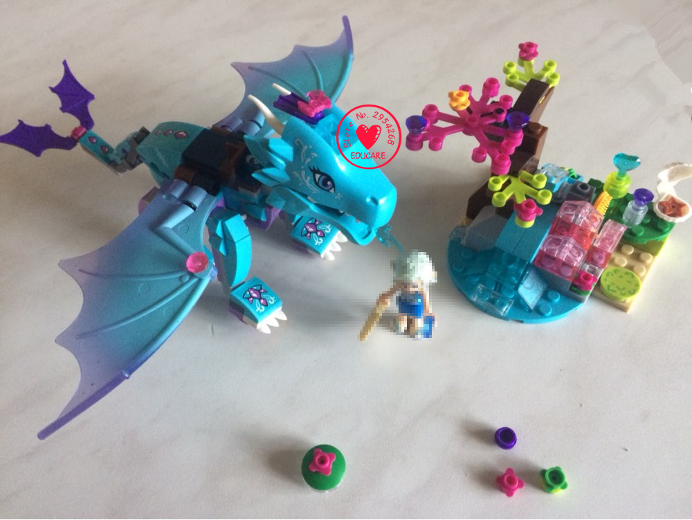 10500 Fairy Elves Water Dragon Adventure model Building Kits Brick 41172 Compatible legoes gift kid toys elves fairy girls set hot elves long after the rescue ction fairy building block model compatible lepins