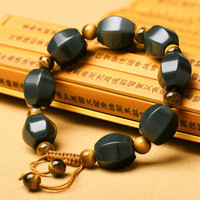 wholesale High Quality Chinese HETIAN Jades(Qing Jades) & Tiger eye stone Beads Bangles For Men Women Jades Jewellery