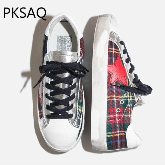 Spring Autumn Women Casual Shoes Fashion Do Old Star Sneakers Model Show Lace Up Flat Dirty Shoes Lady Breathable Shoes best price women shoes 2016 spring autumn fashion mesh hit color lace up breathable casual shoes non slip outdoor flat shoes