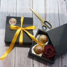 14*14*5cm 10pcs Black Moon Paper Box As Macaron Chocolate Mooncake Cookie Wedding Birthday Party Gifts Packaging