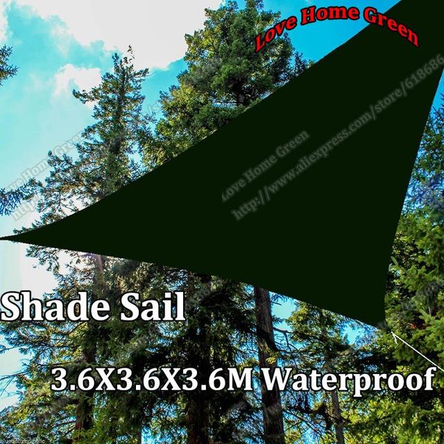 New Waterproof garden shade sail Canopy Triangular Sun Shade Net 3.6X3.6x3.6M & New Waterproof garden shade sail Canopy Triangular Sun Shade Net ...