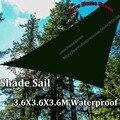 Novo jardim impermeável sombra vela Canopy Triangular sol Net 3.6 X 3.6 X 3.6 M combinação toldo