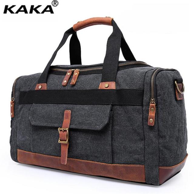 KAKA de Lona de Moda Mango Bolsa de Viaje Multi-función de Los Hombres Solo Bolso de Hombro de Gran Capacidad Ocio Crossbody Bag B299