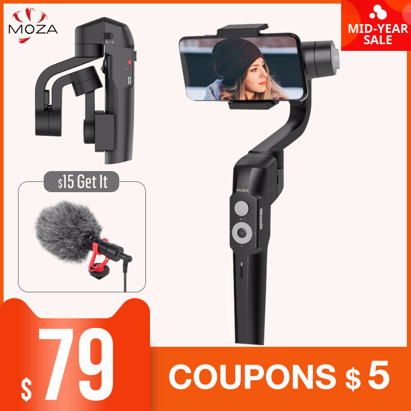NEW MOZA MINI S 3 Axis Foldable Pocket Sized Handheld Gimbal Stabilizer MINI S for iPhone