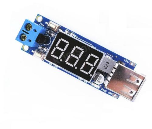 DC 4.5-40V To 5V 2A USB Charger DC-DC Step-down Buck Converter Voltmeter Module dc dc automatic step up down boost buck converter module 5 32v to 1 25 20v 5a continuous adjustable output voltage