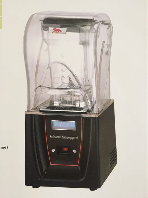 Reee Shipping Low Noise Quiet Commercial Bar Blender With Soundproof Cover Mixer Smoothies Sound