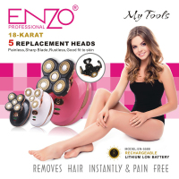 ENZO Women's Painless Hair Remover for Leg Women Epilator Hair Removal Electric Shaver for Women's Legs,Face,Lips Bikini
