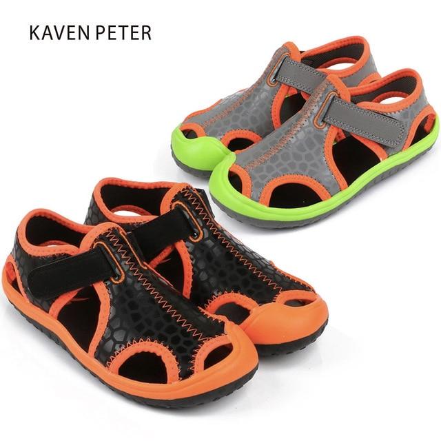 d0aeae94777 Sandalias de verano para niñas zapatos deportivos para niños zapatos de  playa para niños casuales sandalias