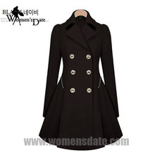 WomensDate 2016 Autumn Winter Women Coat Open Stitch Trench Coat For Women Fashion Chaquetas Mujer Trench Coat