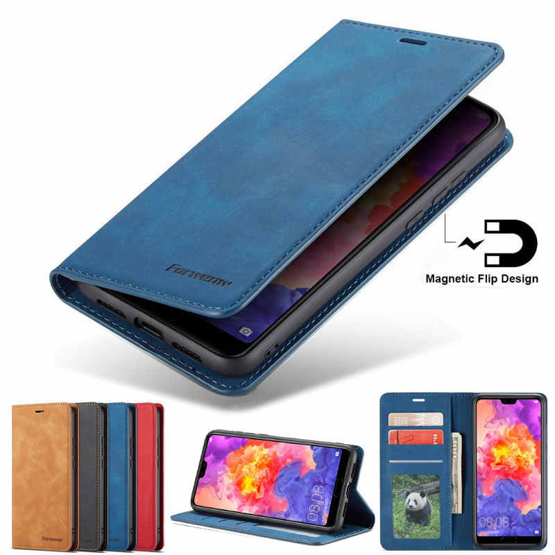 Phone Cover For Huawei P20 Lite Pro Case on p20lite p 20 LITE Luxury Matte Magnetic Flip Wallet Leather Bag Huawai P20 Pro Coque