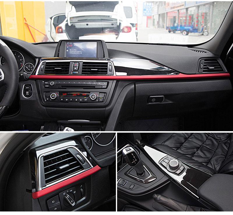For BMW 3 4 Series f30 f34 GT 316i 320li 2013-2017 Car Accessory ABS Center Console Decoration Panel Cover Trim Set of 3pcs полуось на bmw 316i в беларуси